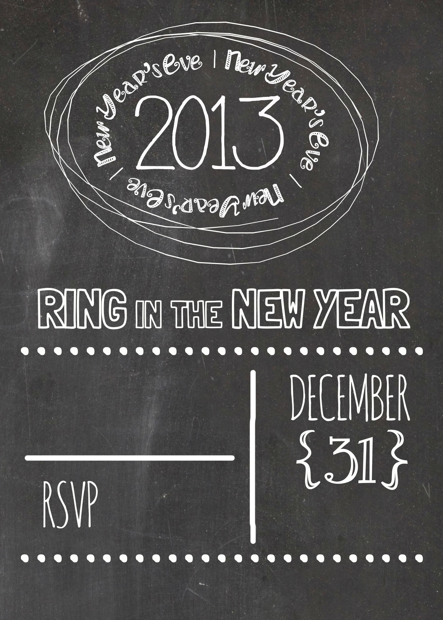 New Year S Eve Party Free Invitation Moritz Fine Blog Designs