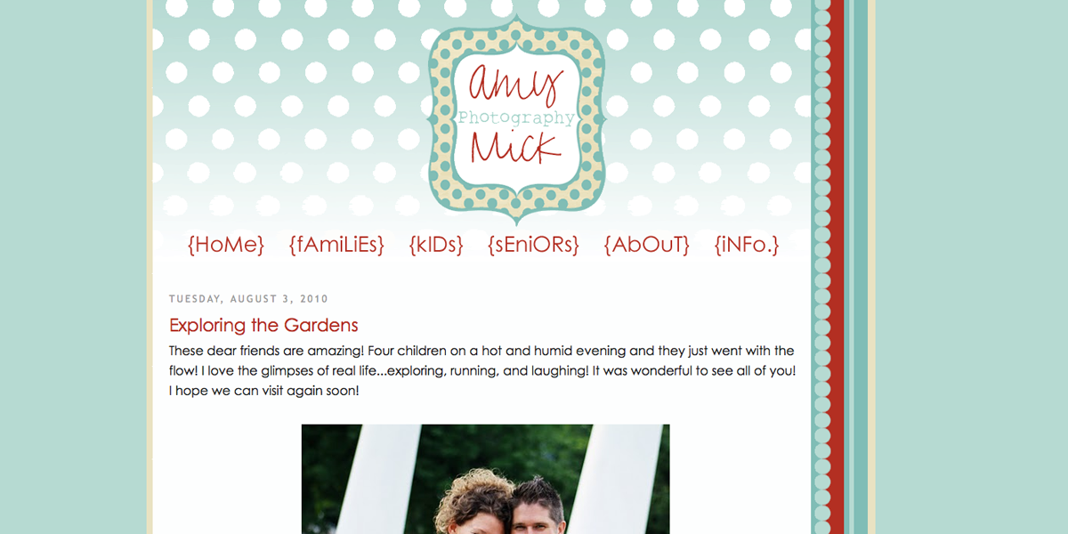 Blogger Design - Amy Mick Photography