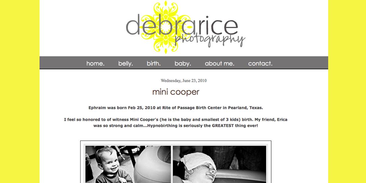 Blogger Design - Debra Rice Photography