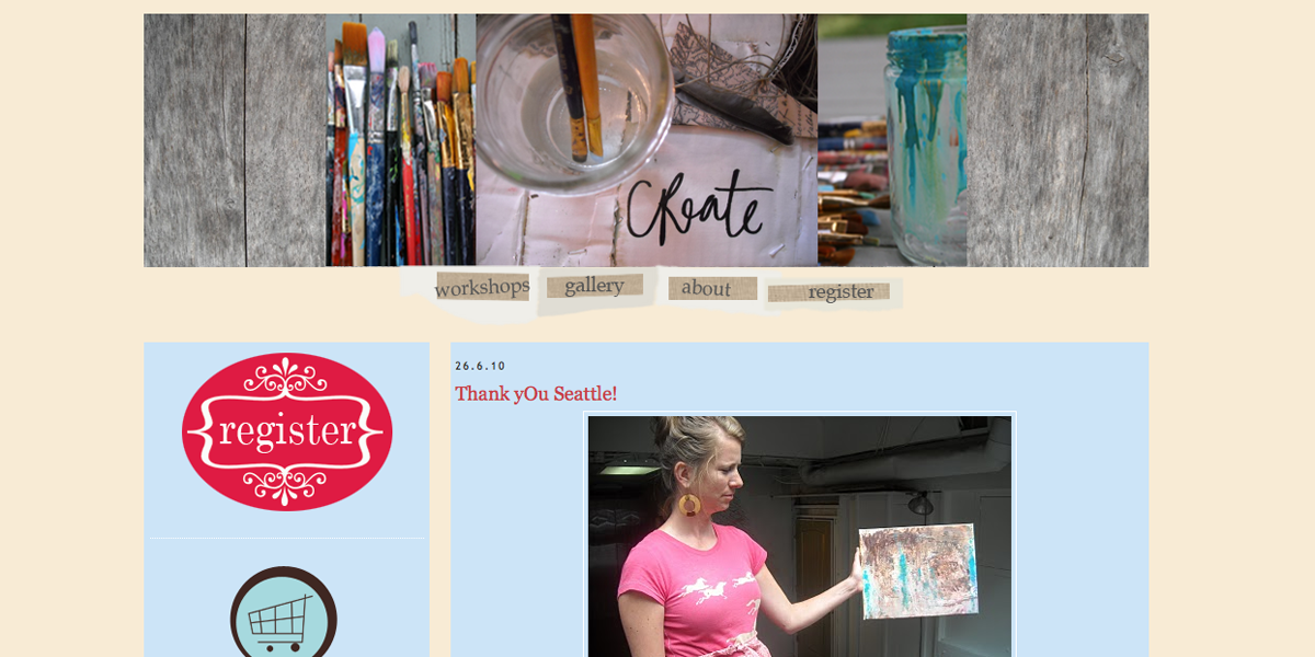 Blogger Design - My Mama Paints