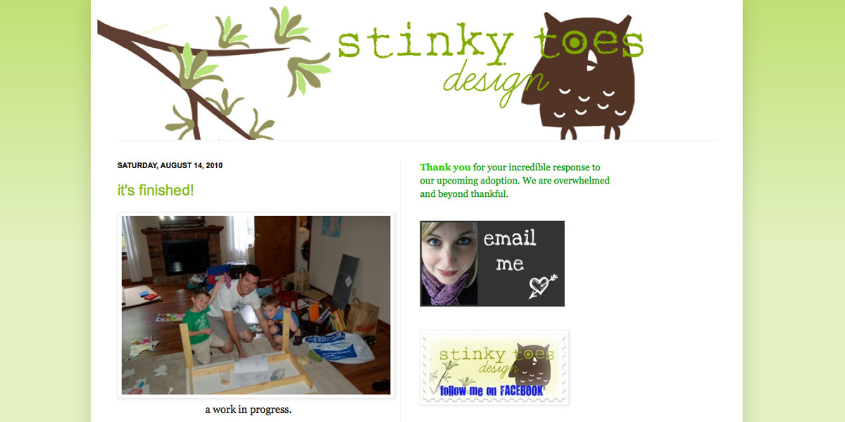 Blogger Design - Stinky Toes Designs