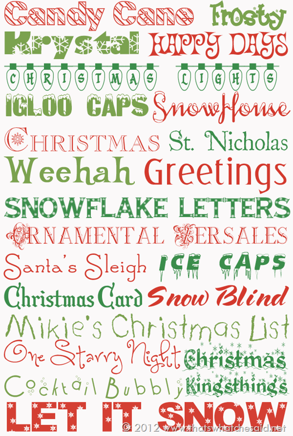 Best Holiday Free Fonts
