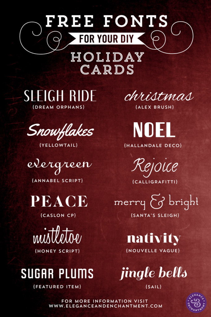 More than 100 Free Holiday Fonts