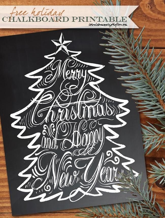 christmas chalkboard printable