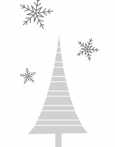 free christmas tree printable art