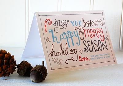 Free hand drawn christmas card