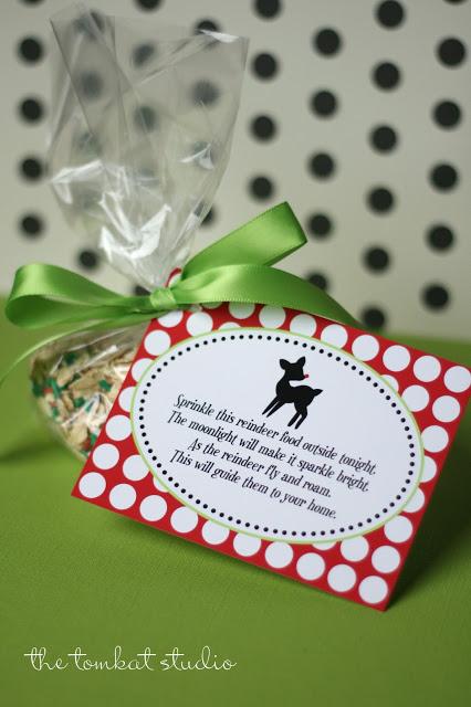 reindeer food label free printable