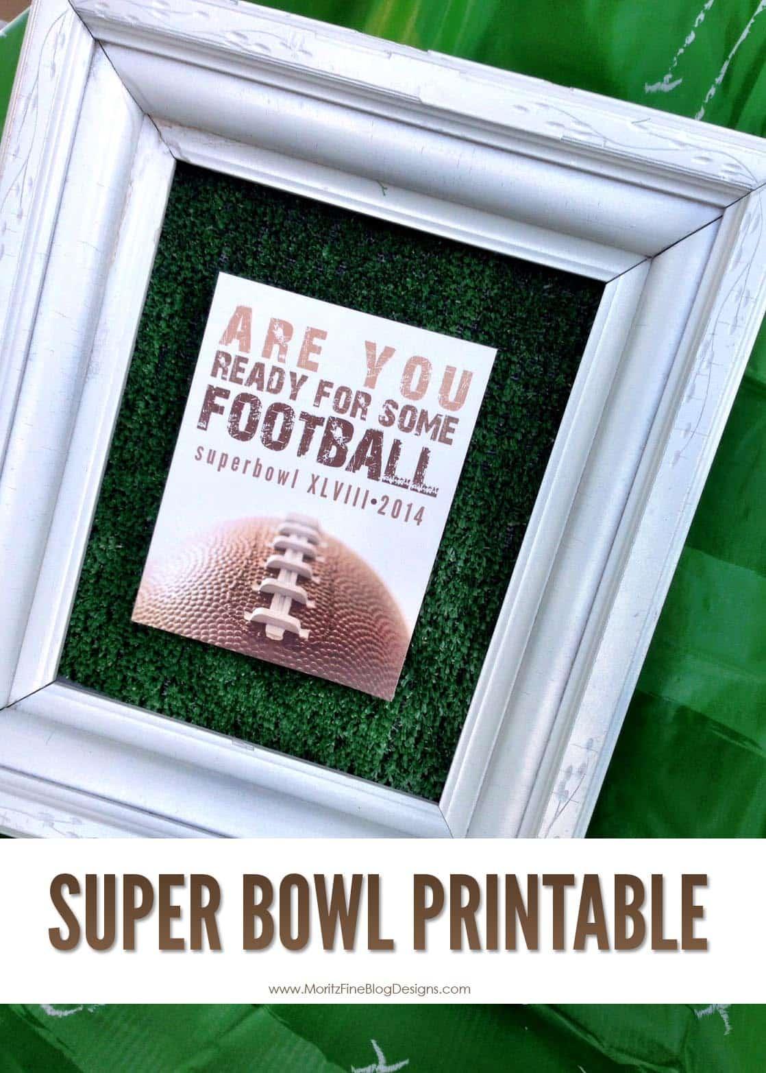 Super Bowl Printable and Invitation