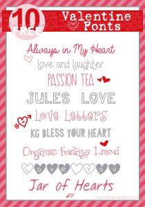 Top 10 Valentine Fonts