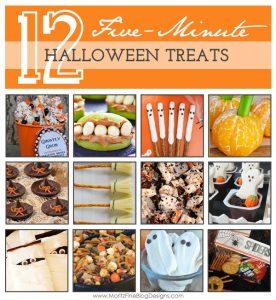 {12} five-minute halloween treats
