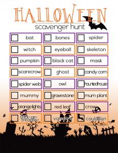 halloweenSCAVENGERhunt