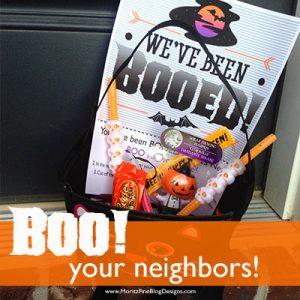 BOOED! Neighborhood Sign