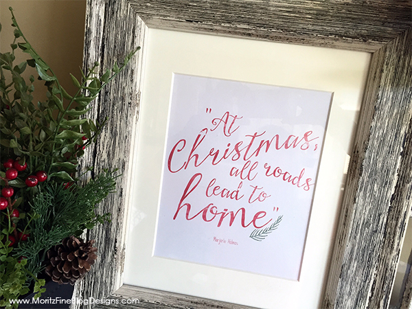 Spruce up your home this Christmas with these Free Christmas Home Printables. Less than 30 minutes to transform the look of your room!