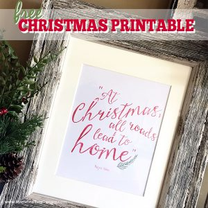 Do you need some new Christmas Holiday decorations in your home? Use this Christmas Wall Decor Free Printable to decorate your mantle or home.