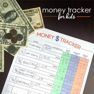 Do you need a system to help your kids keep track of the money they earn/receive? Use this free Money Tracker for Kids to teach your kids to manage money.
