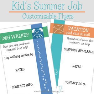 If your kids are looking for a summer job, they can easily get jobs within the neighborhood. Simply use these Kid's Summer Job Customizable Flyers.