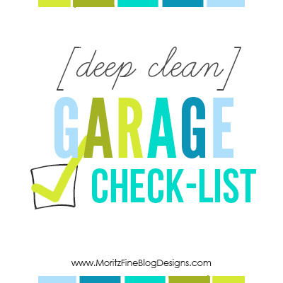 Have a mess garage that overwhelms you every time you walk in it? Use this Deep Clean Garage Checklist to get everything organized and clean!