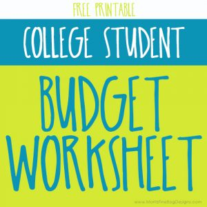 Your soon-to-be college student all packed and ready to go to school. But now what?! Get them financially set with this College Student Budget Worksheet.