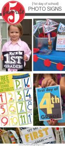Snap a quick photo of your kid's first day of school using these Back to School Photo Signs to mark what grade they are in.