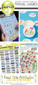 When we head out on a road trip with the kids, I print out a few of these Travel Games for Kids! Great for electronic-free car rides!