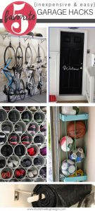 Trying to keep the garage clean and organized feels like a daunting task! After a deep clean, try a few of these 5 Inexpensive & Easy Garage Hacks.