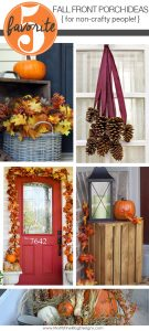 Want to decorate your front porch for fall, but aren't crafty at all? Even the non-crafty can replicate these Fall Front Porch Decorations. Simple and easy.