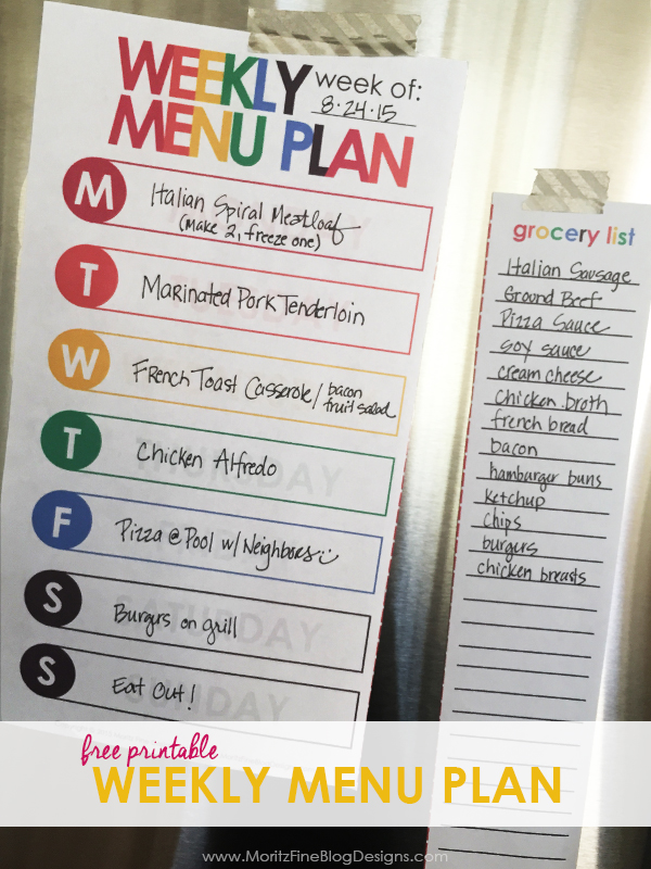 Do you struggle to get dinner on the table every night? Run through the drive-thru too often? Making dinner can be easy with the help of thisWeekly Menu Plan Printable.